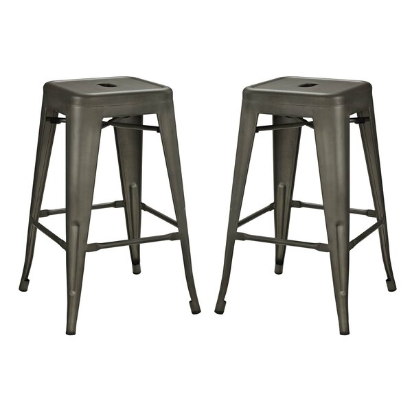 Ashlyn 30 Power Coated Steel Bar Stool (Set of 2) by Williston Forge