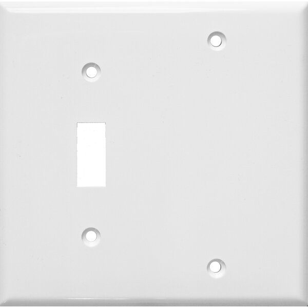 2 Gang 1 Toggle 1 Blank Lexan Wall Plates Blank in White by Morris Products