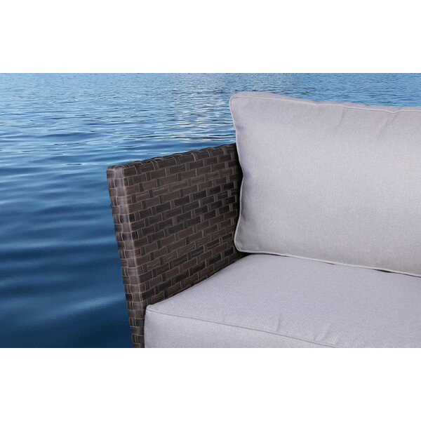 Cody 5 Piece Rattan 2 Person Seating Group with Cushions by Rosecliff Heights