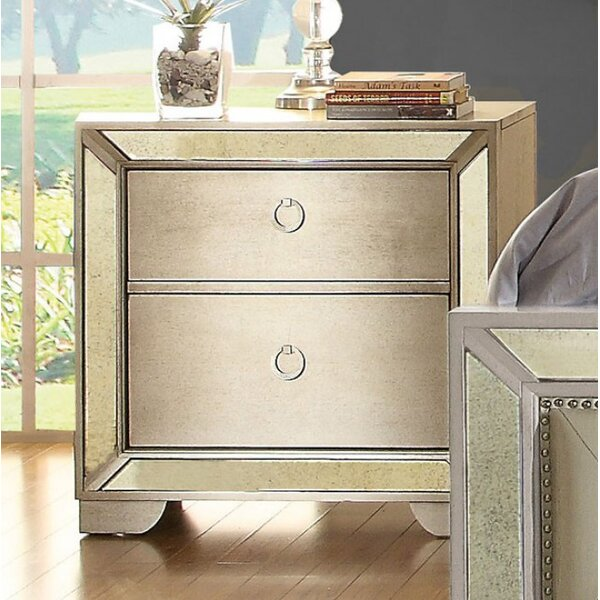 Susann 2 Drawer Nightstand by House of Hampton