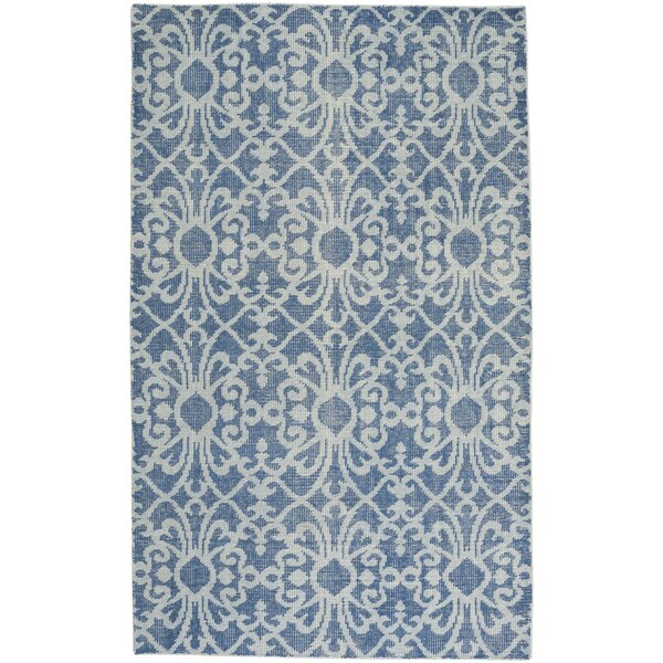 Classic Hand-Knotted Denim Area Rug by Capel Rugs
