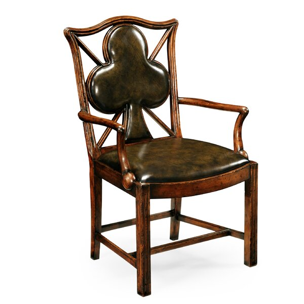 Serpentine Genuine Leather Upholstered Dining Chair by Jonathan Charles Fine Furniture