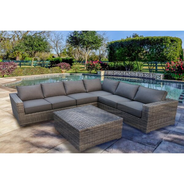 Kaiser 4 Piece Sectional Set with Cushions by Brayden Studio