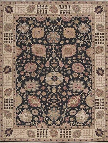 Pierson Hand-Woven Black/Brown Area Rug by Bloomsbury Market