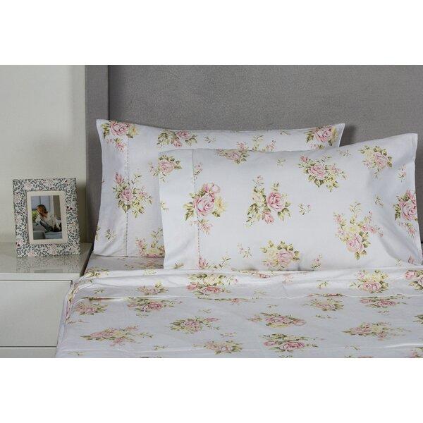 Rose Bouquet 400 Thread Count Cotton Sheet Set by Melange Home