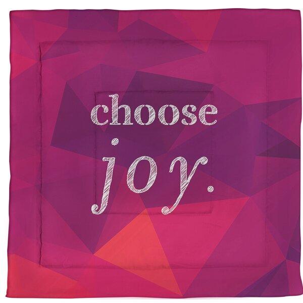 Choose Joy Quote Single Reversible Comforter