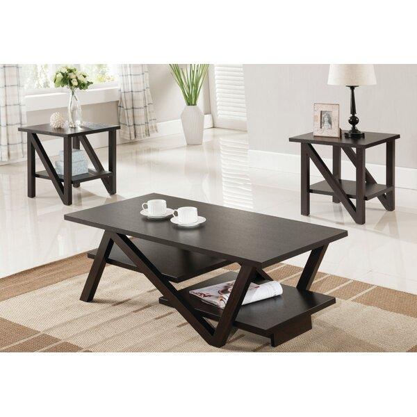 Carrero 3 Piece Coffee Table Set by Brayden Studio