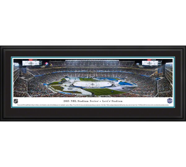 NHL 2015 Stadium Series - Sharks by Christopher Gjevre Framed Photographic Print by Blakeway Worldwide Panoramas, Inc