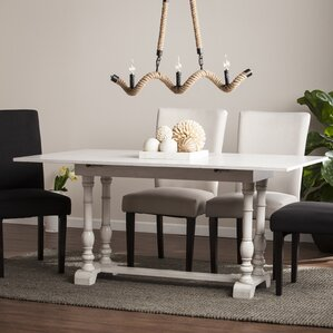 Lilian Farmhouse Folding Trestle Console to Dining Table by Lark Manor