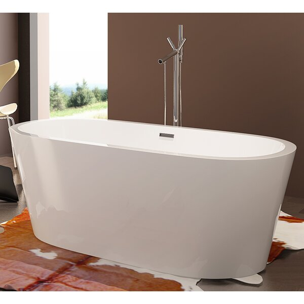 HelixBath Pella 68 x 32.25 Soaking Bathtub by Kardiel
