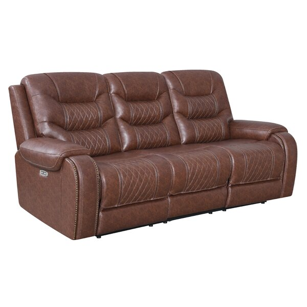 Review Reclining 87'' Pillow Top Arm Sofa