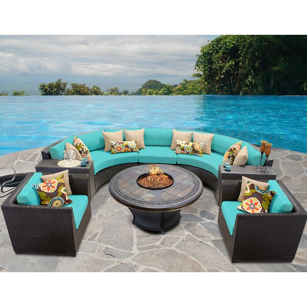 Tegan 8 Piece Sectional Seating Group with Cushions by Sol 72 Outdoor