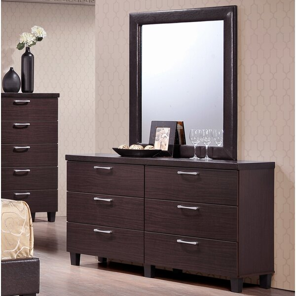 Emmeline 6 Drawer Double Dresser by Latitude Run