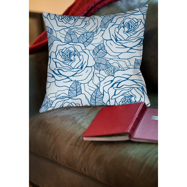 Rose Tonic Printed Throw Pillow by Manual Woodworkers & Weavers