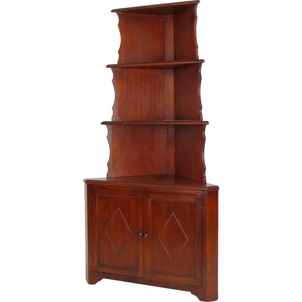 WoodWard Corner Unit Bookcase by August Grove