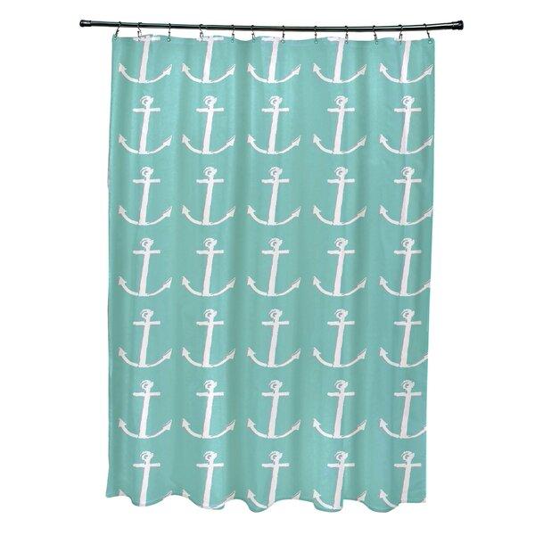 Rajashri Shower Curtain with 12 Hooks by Highland Dunes