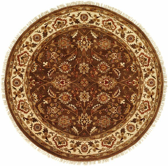 Hand-Woven Brown Area Rug by Meridian Rugmakers
