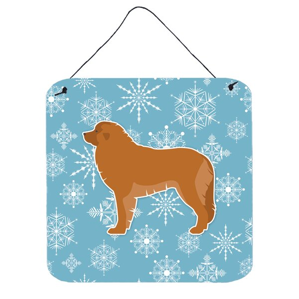 Snowflake Leonberger Wall Décor by East Urban Home