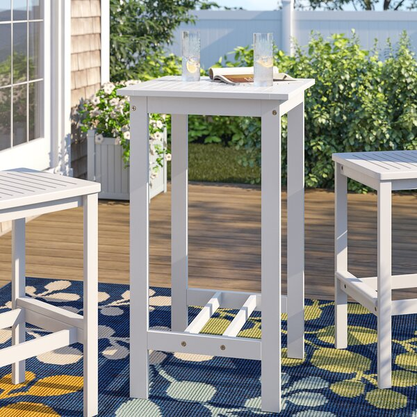 Andromeda Wooden Bar Table by Beachcrest Home
