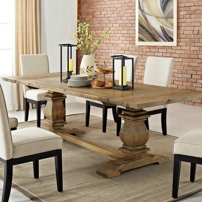 Gracie Oaks Rise Solid Wood Extendable Dining Table Dining Tables