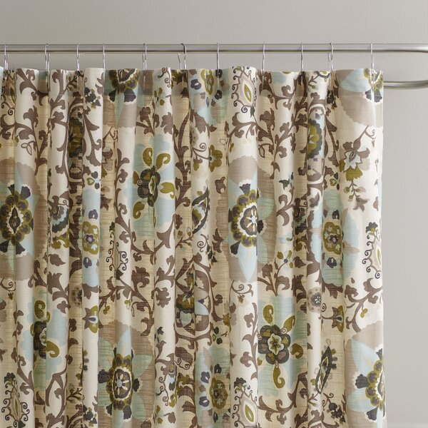 Cady Cotton Shower Curtain by Birch Lane™