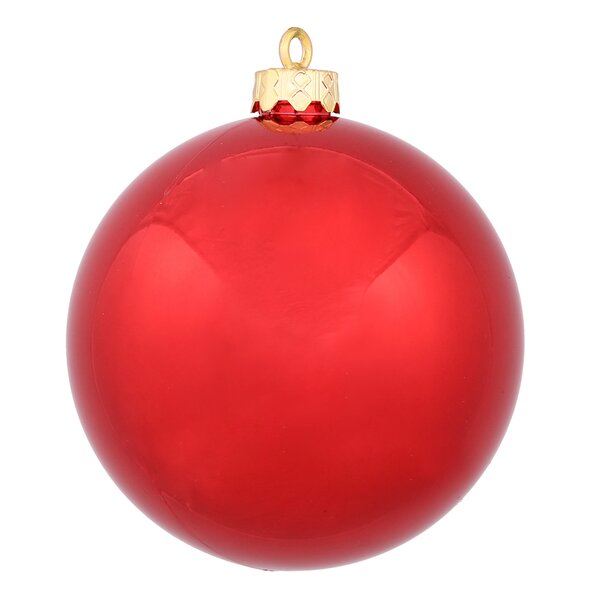 Plastic Ball Ornament with Cap (Set of 60) by The Holiday Aisle