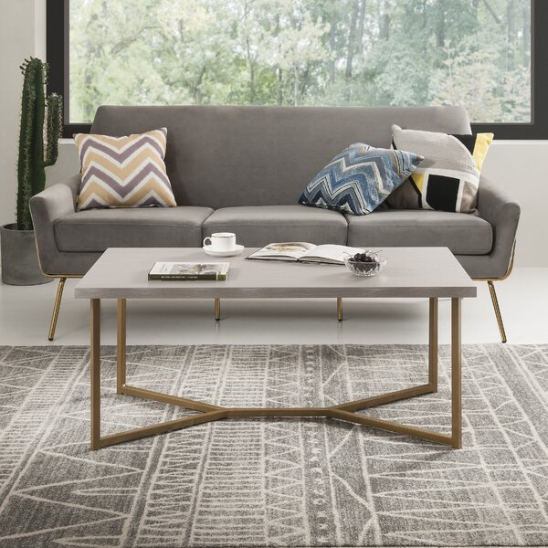 Cavalli Cross Legs Coffee Table By Latitude Run