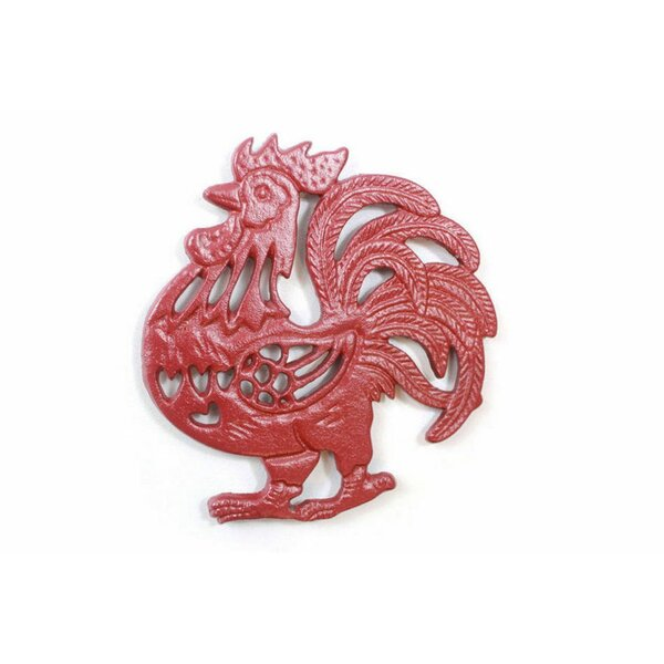 Cast Iron Rooster Shaped Trivet by Gracie Oaks