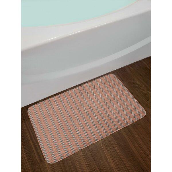 Geometrical Plaid Bath Rug by East Urban Home
