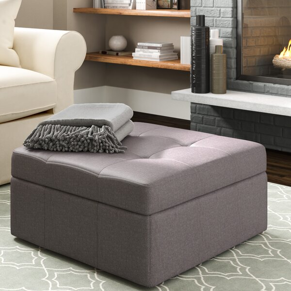 Baronets Tufted Storage Ottoman by Three Posts
