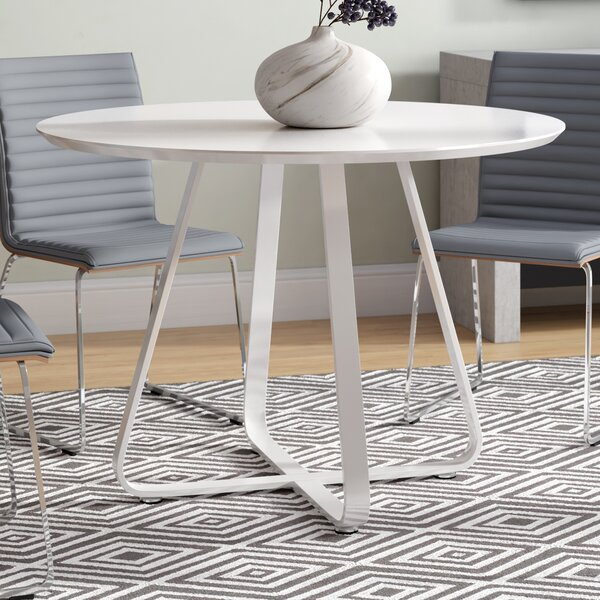 Tegan High Gloss Lacquer Dining Table by Ivy Bronx