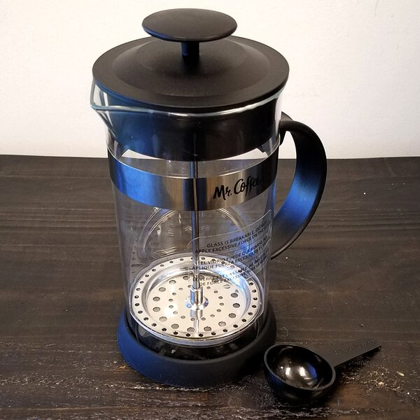 4-Cup Mr. Coffee Cafe Oasis Glass Body French Press Coffee Maker by Gibson