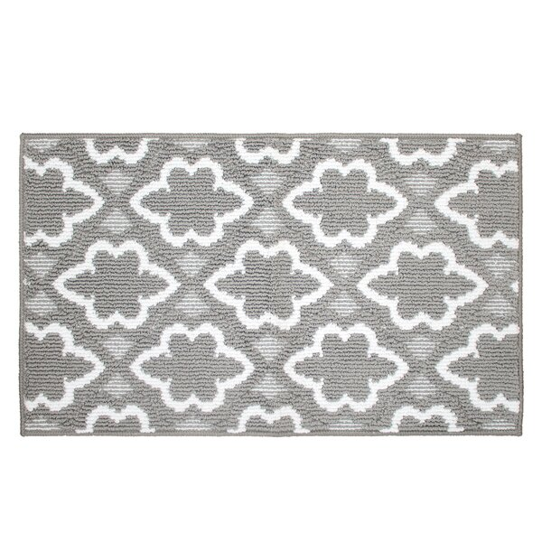 Ardal Gray/White Area Rug by House of Hampton