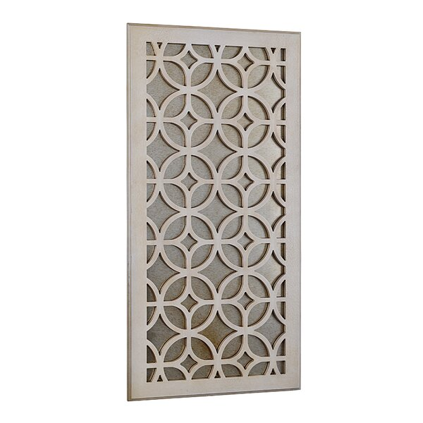 Moroccan Distressed Wood Wall Mirror by Utopia Alley