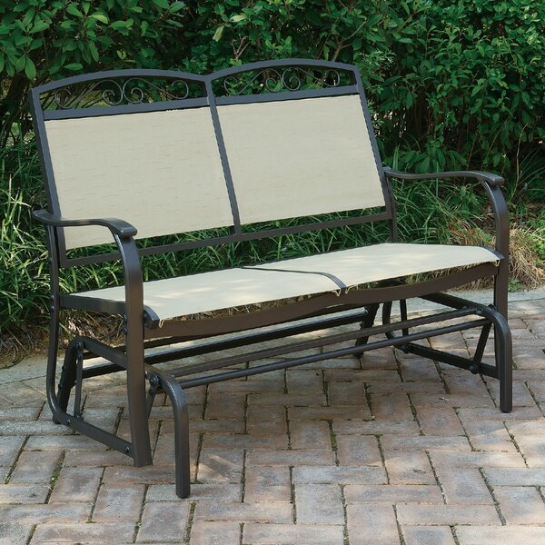 Wayzata Outdoor Fabric Glider Bench by A&J Homes Studio