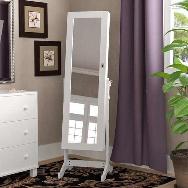 Stacy Free Standing Jewelry Armoire with Mirror by