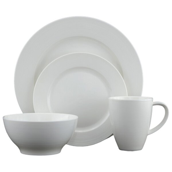 Heston Round 16 Piece Dinnerware Set by Tannex