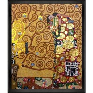 Fulfillment by Gustav Klimt Framed Painting by Tori Home