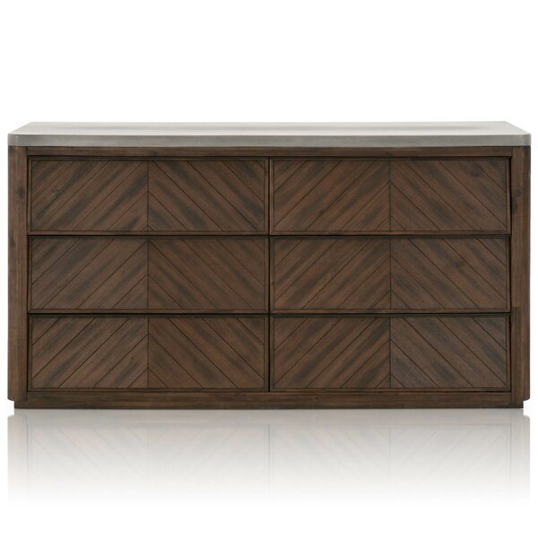 Terence 6 Drawer Double Dresser by Foundry Select