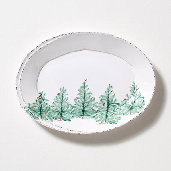 Lastra Holiday Oval Platter by VIETRI