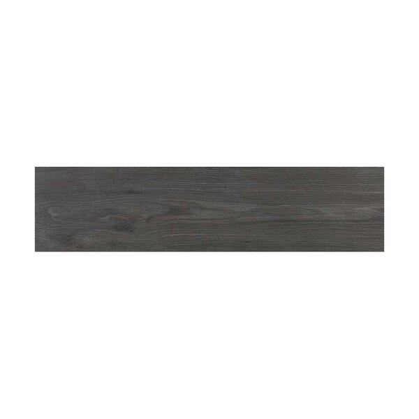 Vanderbilt 6 x 24 Porcelain Wood LookTile in Charcoal by Parvatile