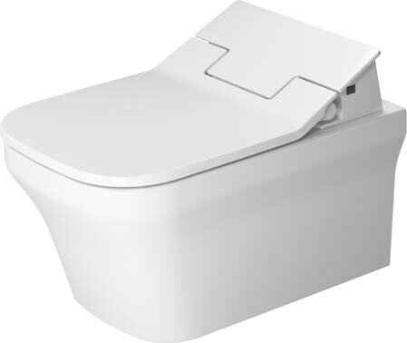 P3 Comforts Dual-Flush Elongated Wall Mounted Toilet with High Efficiency Flush (Seat Not Included) by Duravit
