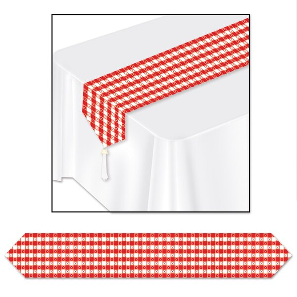 Marden Gingham Table Runner (Set of 3) by The Holiday Aisle
