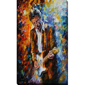 Eric Clapton by Leonid Afremov Painting Print on Wrapped Canvas by Picture Perfect International