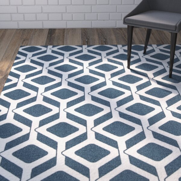 Kalypso Navy Area Rug by Mercury Row