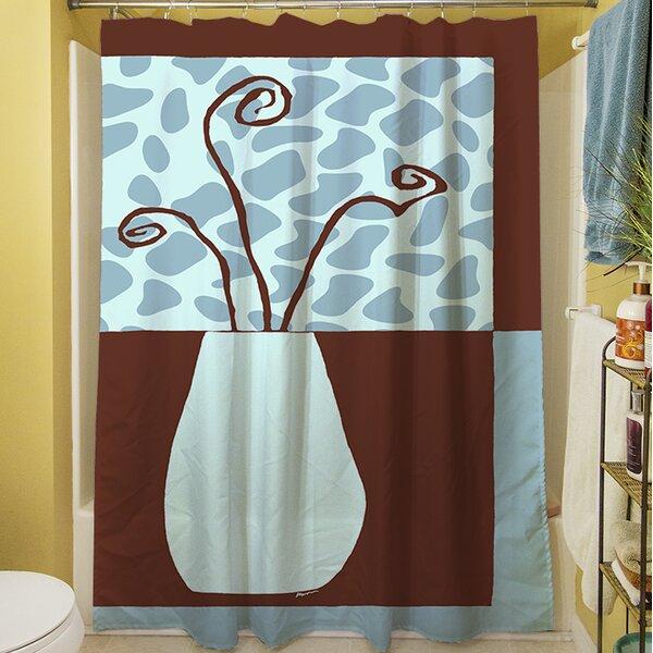 Minimalist Flowers III Shower Curtain by Manual Woodworkers & Weavers