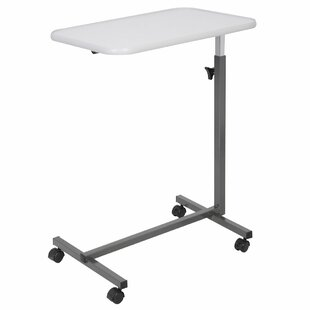 Heid Overbed Rolling Laptop Tray Tilting Height Adjustable Standing Desk