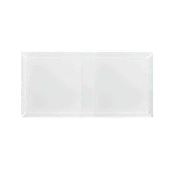 Frosted Elegance 8 x 16 Glass Field Tile in Matte Gray by Abolos