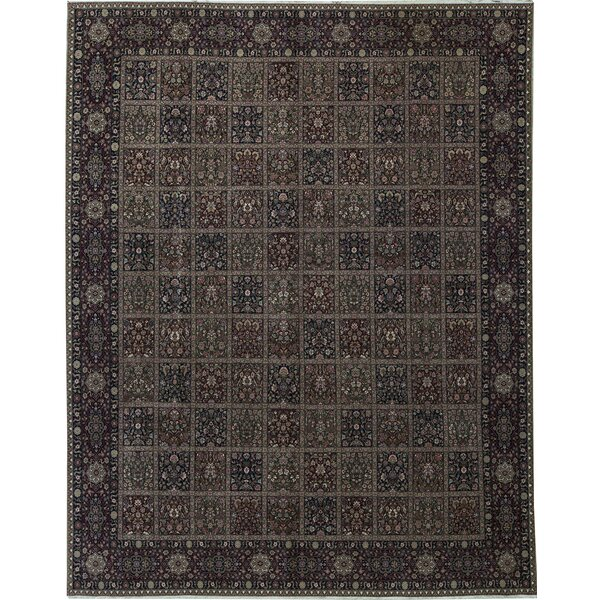 One-of-a-Kind Shah Hand-Knotted Brown 11'9 x 14'9 Wool Area Rug