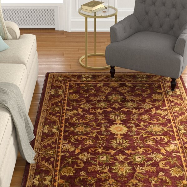Wine & Gold Area Rug by Charlton Home